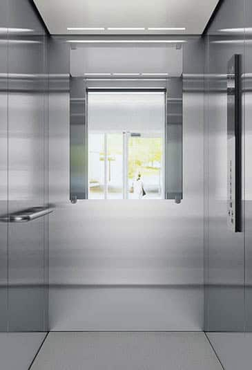KONE EcoSpace® elevator interior brushed stainless steel